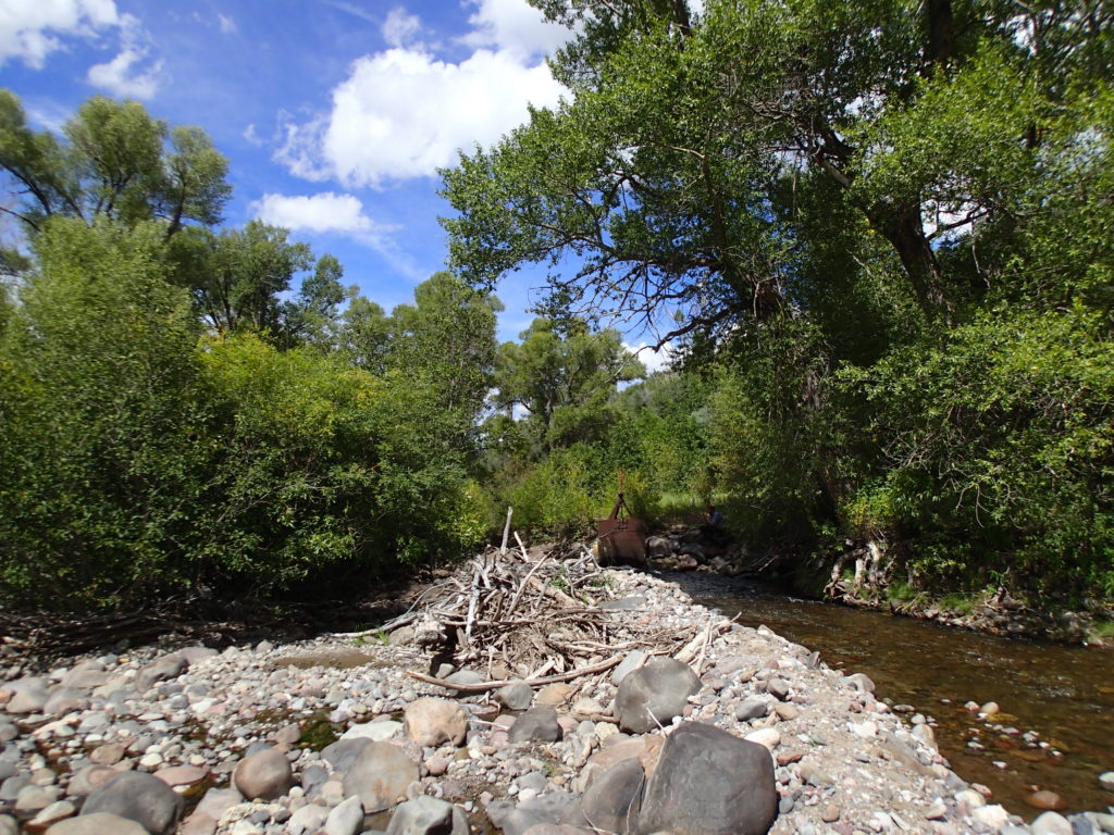 The McKinley Ditch Diversion off the Little Cimarron River in Colorado