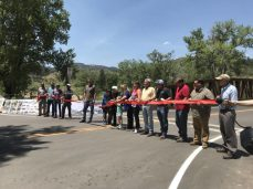 The opening of a new bridge over the South St. Vrain Creek marks a milestone in flood recovery. Photo by Maeve Conran