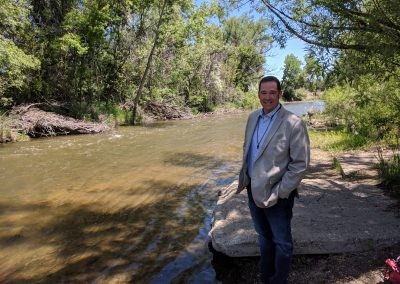 "Sean Cronin, director of the St. Vrain and Left Hand Water Conservancy District. ""We've seen people in the community be more involved in stream planning ideas, more than we did pre-flood."" Photo by Maeve Conran"