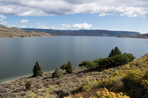 Photos shows Blue Mesa Reservoir near Gunnison in 2017, when the giant storage pond was nearly full. Credit: U.S. Bureau of Reclamation.