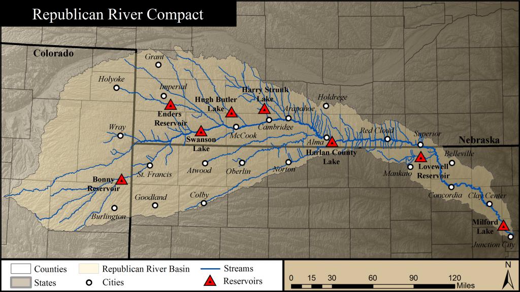 The Republican River Basin includes Colorado, Kansas and Nebraska.