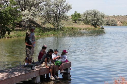 Fishing at a park in Wray, Colorado. Credit: City of Wray.
