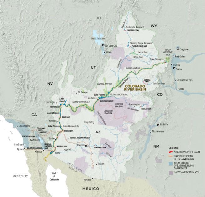 Colorado River Basin: Credit: Chas Chamberlin