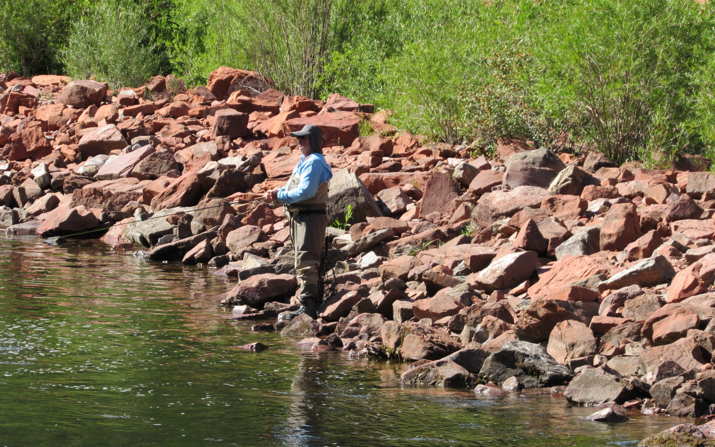 Angler on the Roaring Fork River upstream of Basalt in Pitkin County. The county is one of just two statewide that now allows use of graywater in homes and businesses. Credit: Jerd Smith