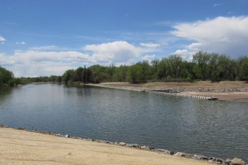 A segment of the Middle South Platte River that was restored as part of flood recovery work. May 22, 2019