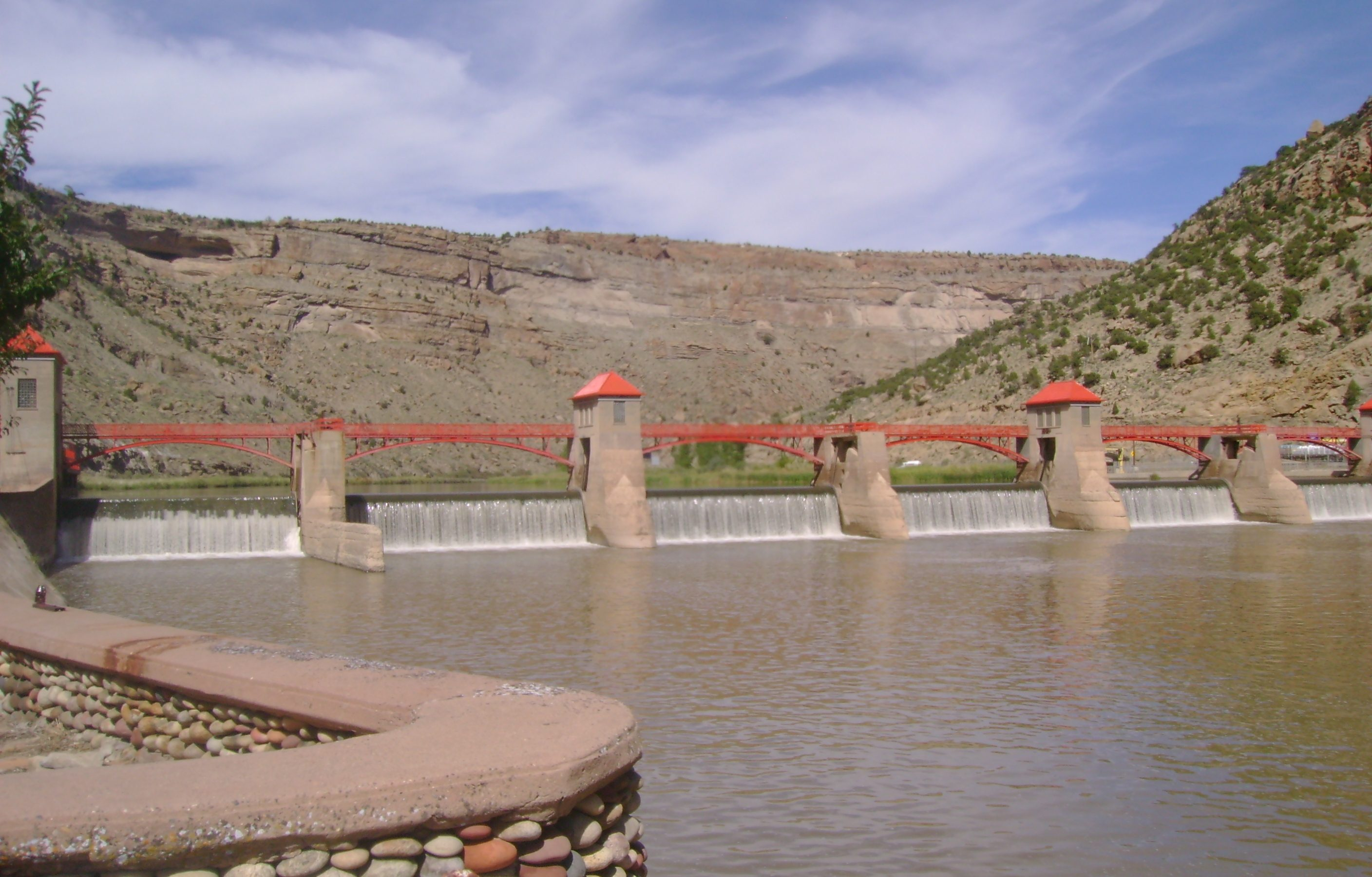 The Roller Dam on the Colorado River west of Glenwood Springs. Credit: Grand Valley Water Users Association