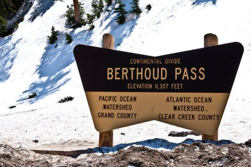 Berthoud Pass at the Continental Divide. Credit: Flickr Creative Commons
