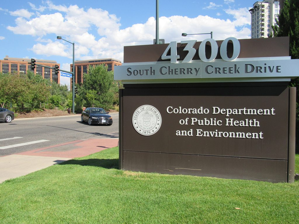 The Colorado Department of Public Health and Environment, Sept. 10, 2019. Credit: Jerd Smith