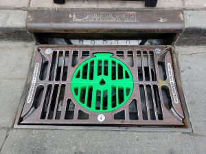 A Gutter Bin is one of several devices being tested by Denver and other Western cities as a way to trap trash without clogging stormwater drains. Credit:: Fogg Creek Partners
