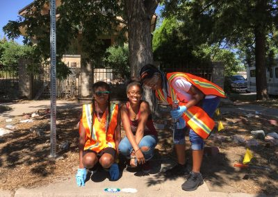 Dr. Justina Ford STEM Institute storm drain marking