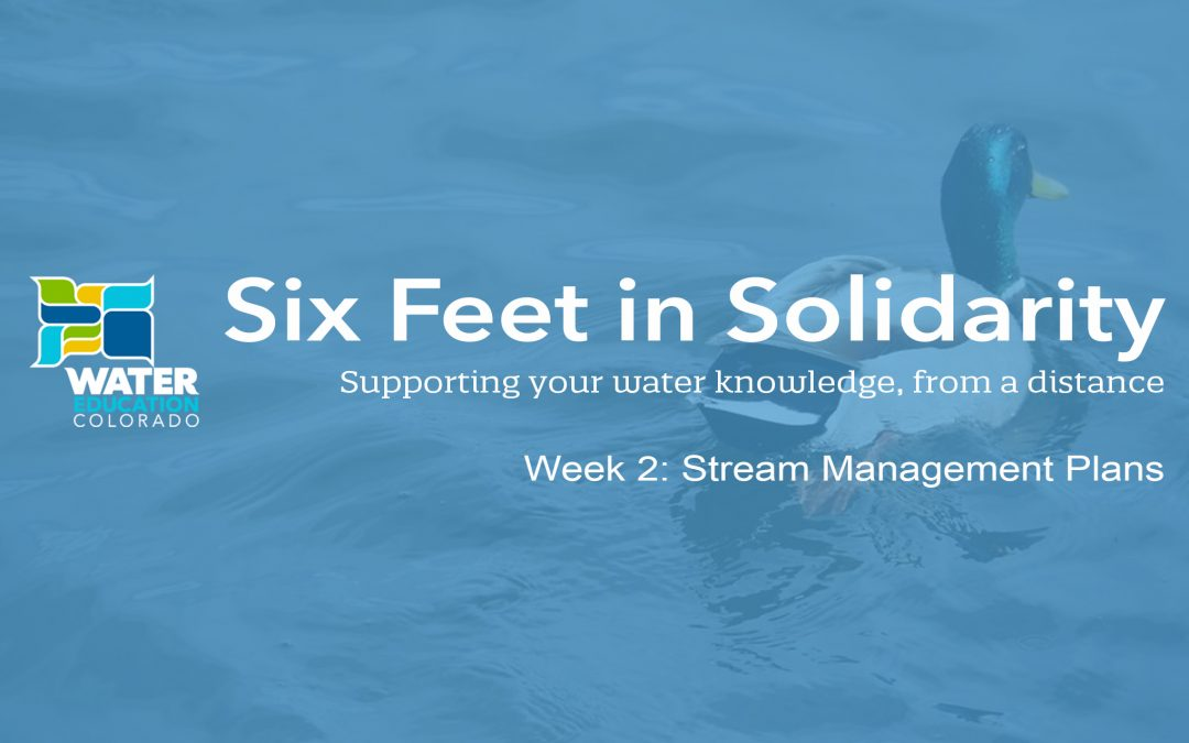 Six Feet in Solidarity – Week 2: Stream Management Plans