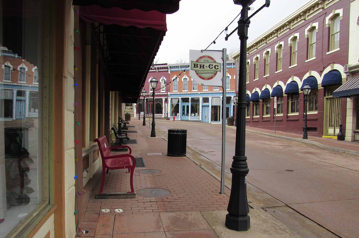 Streets are empty in Central City, with casinos shuttered and hundreds of workers layed-off. The pandemic is bad news for the state's new sports-betting tax , which was to have helped fund the Colorado Water Plan. April 21, 2020. Credit: Jerd Smith