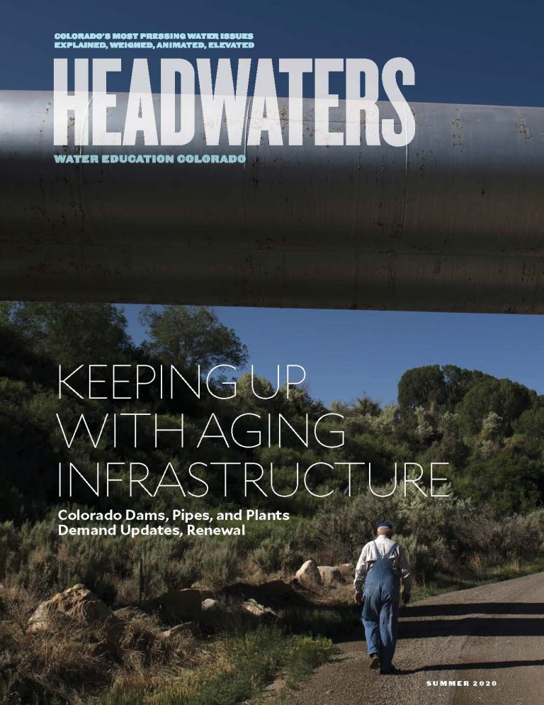 Summer 2020 Headwaters magazine cover for the aging infrastructure issue
